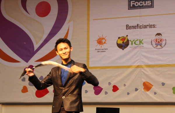 Young illusionist, Edison Lim had the crowd mesmerised by the unusual way in which he used his magic to generate a great excitement among the audience.