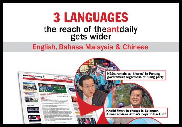 自从有了英文,国文和中文版后,《每日蚁轮》有望达到显著更广泛的读者。