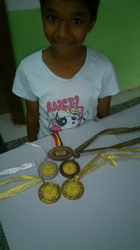 Yee Ling and her medals
