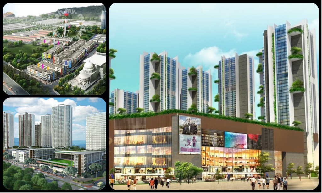 Some of HCK Properties' projects. Clockwise from top left: Education Enclave, Roppongi and Setia Alam Educity